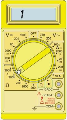 multimeter untuk resistor