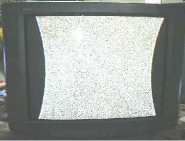 tv rusak gambar cekung