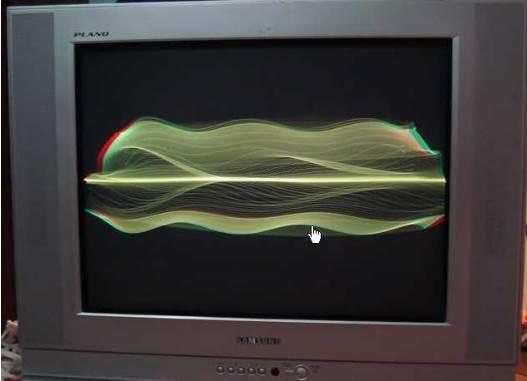 tv rusak garis bergelombang