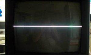 tv rusak vertikal garis horizontal