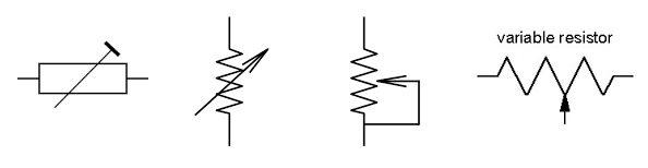 simbol resistor variabel