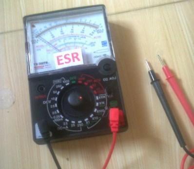 ESR meter analog versi AVO meter
