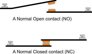 kontak NC NO relay