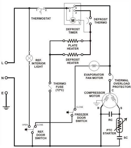 skema rangkaian kulkas