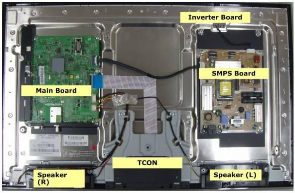 bagian bagian mesin tv lcd led