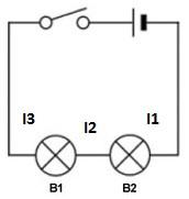 rangkaian dasar seri 2 lampu