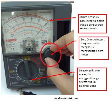 cara kalibrasi avometer analog
