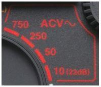 simbol avometer AC