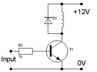 saklar transistor untuk menghidupkan relay