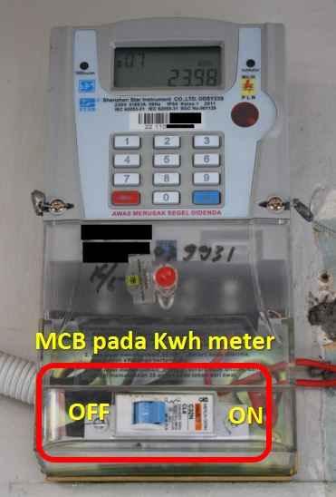 MCB pada kwh meter