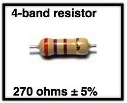 Contoh Menghitung Kode Warna Resistor 4 Warna