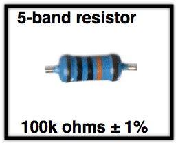 Contoh Menghitung Kode Warna Resistor 5 Warna
