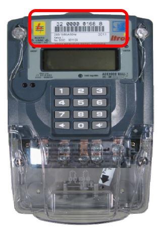 ID pelanggan PLN pada Kwh meter