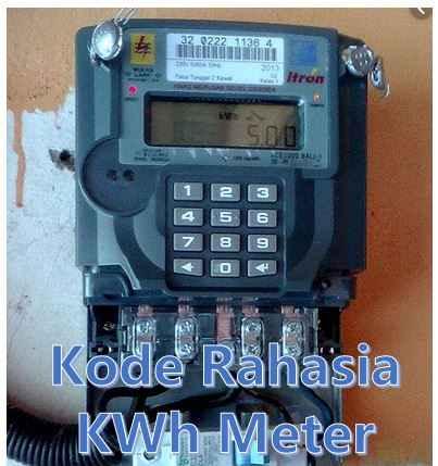 Kode rahasia kwh meter tarif listrik