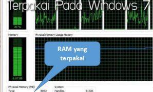 Cara Mengetahui RAM Laptop yang Terpakai Windows 7
