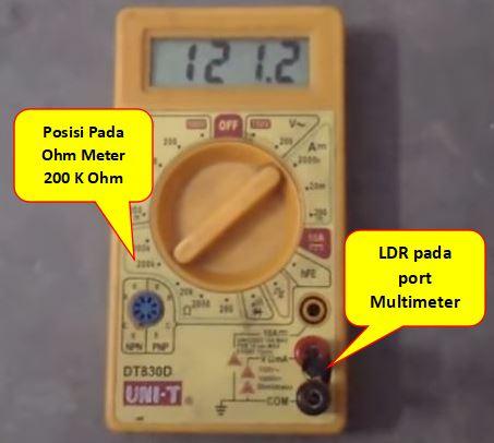 cara mengukur ldr pada kondisi gelap