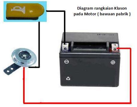 diagram klakson motor