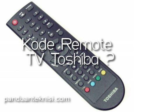 kode remote tv toshiba