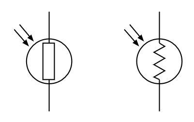 simbol ldr sensor cahaya