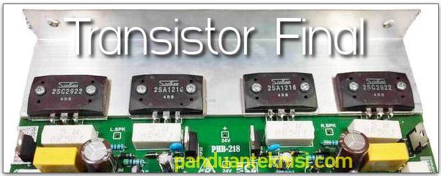 transistor final yang bagus untuk bass
