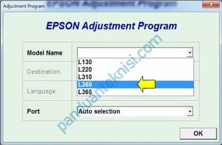 tutorial Epson L360 Resetter dengan mudah