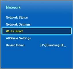 wifi direct samsung tv