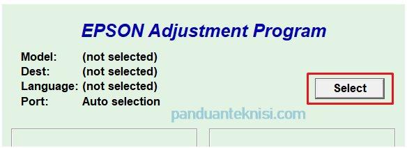 Download Resetter Epson L310 - pilih printer