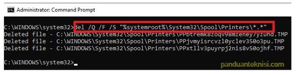 mengatasi printer tidak bisa print dengan command prompt