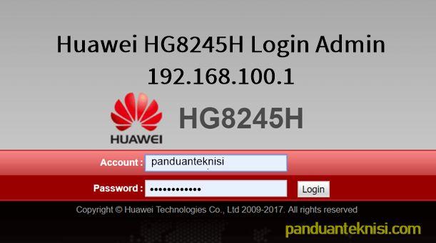 192.168.l00.1 Admin Huawei Login