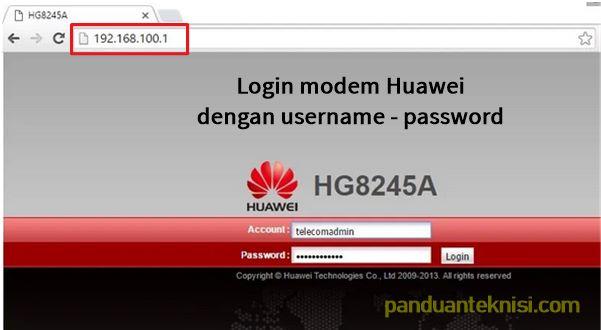 login modem indihome huawei