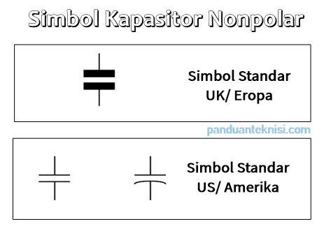 Simbol Kapasitor Non Polar