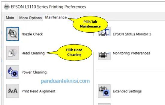 Cara Cleaning Printer Epson maintenance