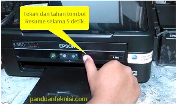 cara cleaning printer epson tanpa komputer