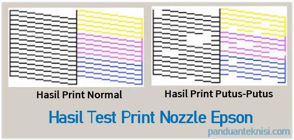 hasil test print nozzle epson