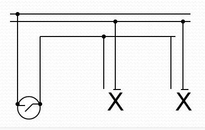 instalasi listrik rumah tangga - diagram garis ganda